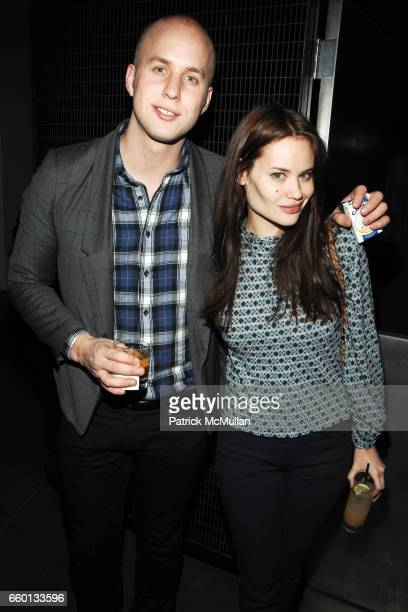 Patrick Emanuel and Kristina Ratliff attend THE CINEMA SOCIETY NEXTBOOK GREY GOOSE host the after party for DEFIANCE at Shang at the Thompson LES...