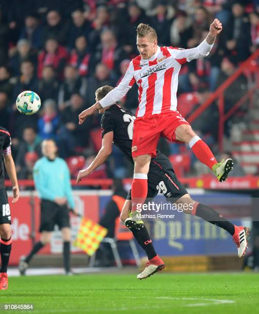 Patrick Erras of 1 FC Nuernberg and Sebastian Polter of 1FC Union Berlin during the game between Union Berlin and the 1 FC Nuernberg on january 26...