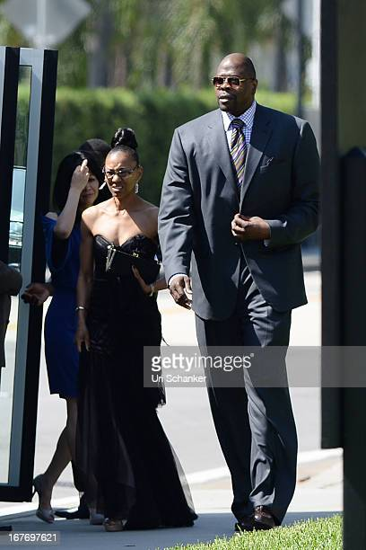 Patrick Ewing arrives at Michael Jordan and Yvette Prieto weddding Bethesdabythe Sea church on April 27 2013 in Palm Beach Florida