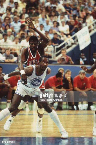 Patrick Ewing Dan Roundfield Men's Basketball team playing at 1984 Olympics at the Los Angeles Memorial Coliseum