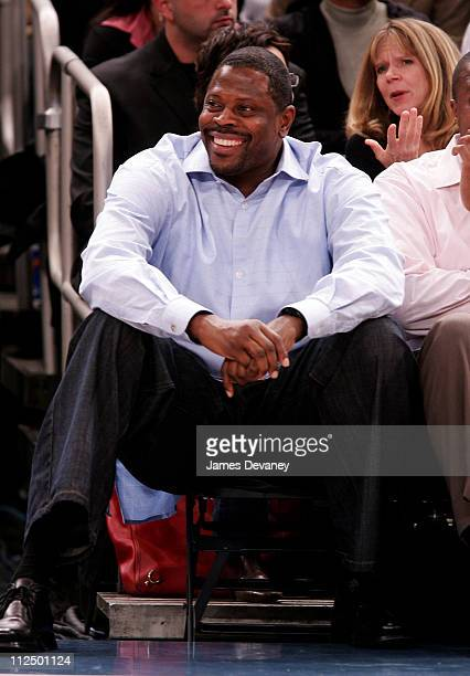 Patrick Ewing during Celebrity Sighting at Houston Rockets vs New York Knicks Game November 20 2006 at Madison Square Garden in New York City New...