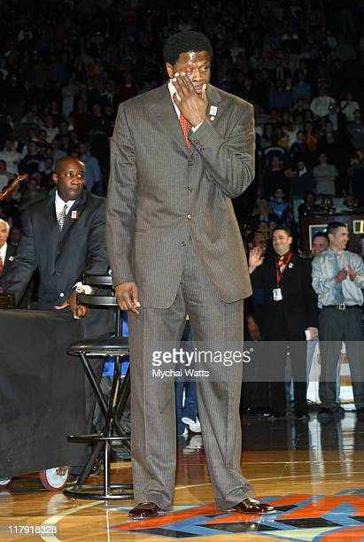 Patrick Ewing during Patrick Ewing's Jersey Joins Other Knicks Greats in the Rafters of Madison Square Garden at Madison Square Garden in New York...