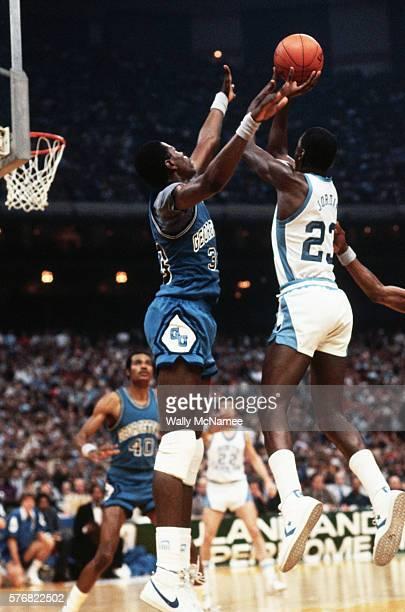 Patrick Ewing Guarding Michael Jordan