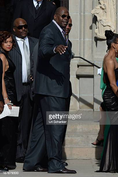 Patrick Ewing is sighted at Michael Jordan and Yvette Prieto wedding Bethesdabythe Sea church on April 27 2013 in Palm Beach Florida