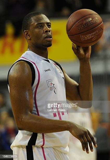 Patrick Ewing Jr of Bonn holds the ball during the Beko Basketball match between FC Bayern Muenchen and Telekom Baskets Bonn at AudiDome on December...
