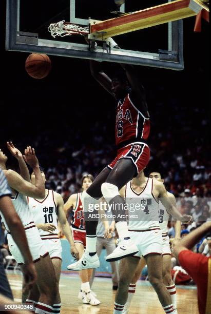 Patrick Ewing Men's Basketball preliminaries competition at the 1984 Summer Olympics July 29 1984