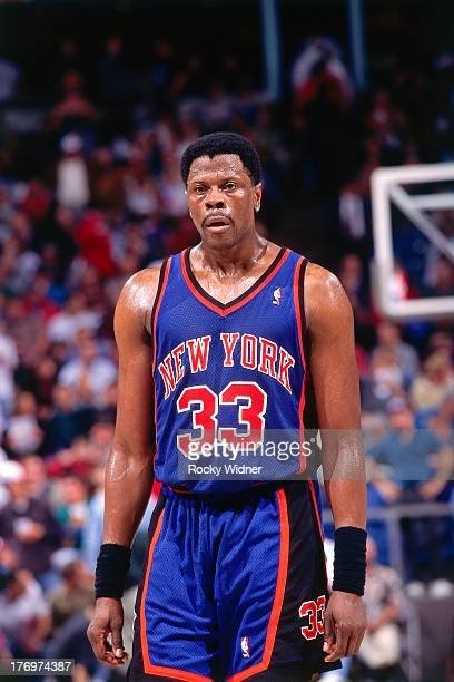 Patrick Ewing of the New York Knicks walks against the Sacramento Kings on February 28 1996 at Arco Arena in Sacramento California NOTE TO USER User...