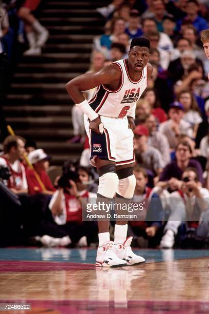 Patrick Ewing of the USA Senior Men's Basketball team against Argentina during the Basketball Tournament of Americas on June 30 1992 at the Rose...