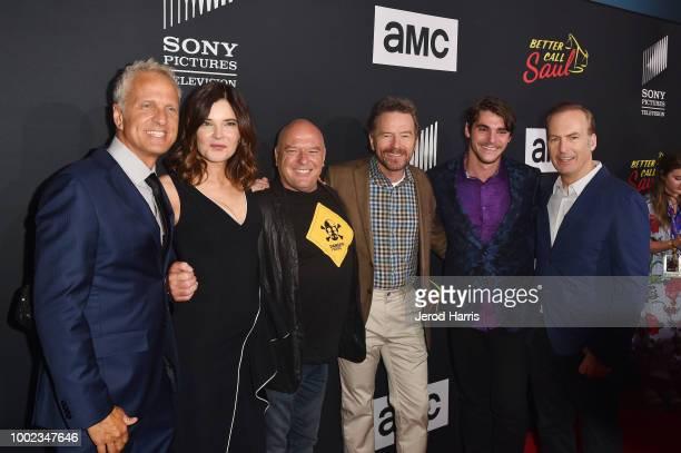 Patrick Fabian Betsy Brandt Dean Norris Bryan Cranston RJ Mitte and Bob Odenkirk attend AMC's 'Better Call Saul' Season 4 Premiere at UA Horton Plaza...