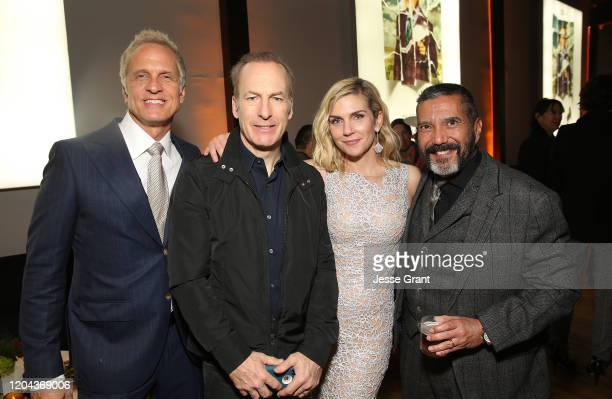 Patrick Fabian Bob Odenkirk Rhea Seehorn and Steven Michael Quezada attend the Premiere of AMC's Better Call Saul Season 5 After Party on February 05...