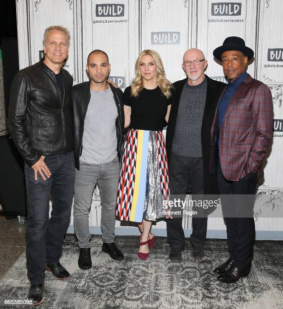 Patrick Fabian Michael Mando Rhea Seehorn Jonathan Banks and Giancarlo Esposito attend the Build Series at Build Studio on April 6 2017 in New York...