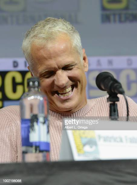 Patrick Fabian speaks onstage during AMC's 'Better Call Saul' during ComicCon International 2018 at San Diego Convention Center on July 19 2018 in...
