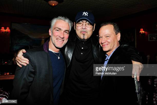 Patrick Fahey Kevin Dornan and Kevin Stein attend JEFF STEIN'S Birthday Dinner at East Side Social Club on April 1 2010 in New York City