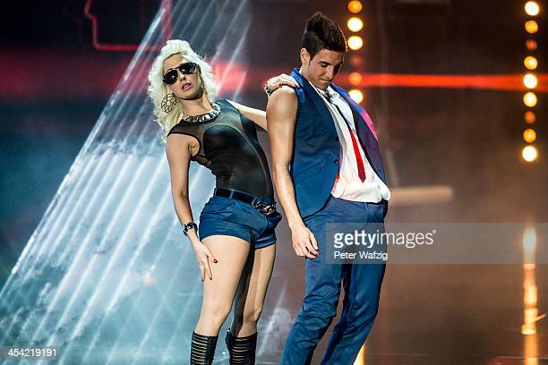 Patrick Feldmann performs during the second Semifinal of 'Das Supertalent' TV Show on December 07 2013 in Cologne Germany