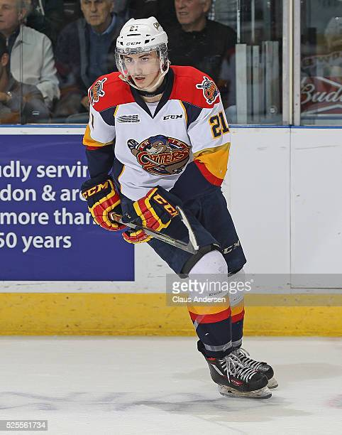 Patrick Fellows of the Erie Otters skates against the London Knights during game four of the OHL Western Conference Final on April 27 2016 at...