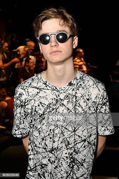 Patrick Finnegan attends the Carmen Marc Valvo Spring/Summer 2017 Fashion Show during New York Fashion Week at Pier 59 Studios on September 11 2016...