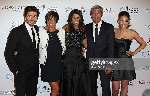 Patrick Fiori Laurence Lemarchal Karine Ferri Pierre Lemarchal and Leslie Lemarchal attend the 'Global Gift Gala' 2014 Charity Dinner At The Four...