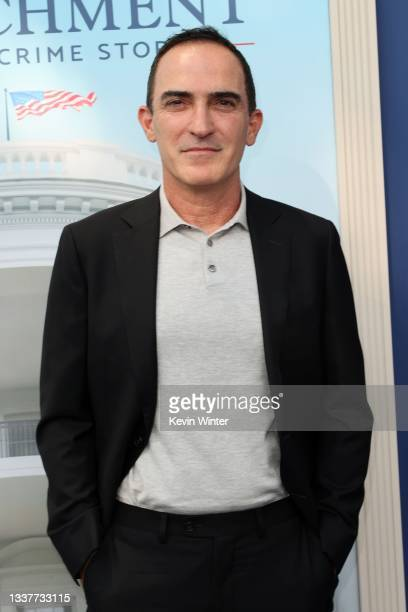 """Patrick Fischler attends the premiere of FX's """"Impeachment: American Crime Story"""" atat Pacific Design Center on September 01, 2021 in West Hollywood,..."""