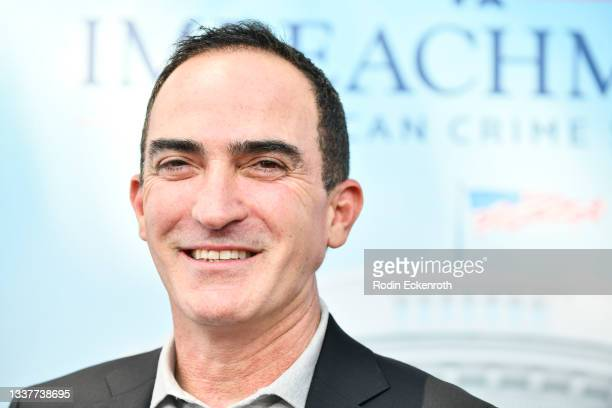 """Patrick Fischler attends the premiere of FX's """"Impeachment: American Crime Story"""" at Pacific Design Center on September 01, 2021 in West Hollywood,..."""