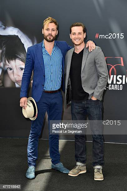 Patrick Flueger and Jesse Lee Soffer attend a photocall for the 'Chicago PD' TV series on June 15 2015 in MonteCarlo Monaco