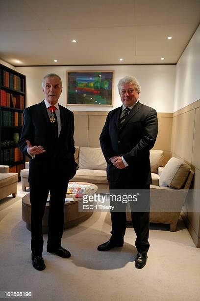 Patrick Forestier Awarded The Legion Of Honour Commandeur de la Légion d'honneur et membre de l'Institut le réalisateur Pierre SCHOENDOERFFER a remis...