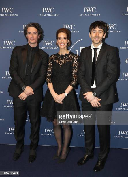 Patrick Franziska Gsell and Seabase and Nenad Mlinarevic attend the IWC Schaffhausen Gala celebrating the Maison's 150th anniversary and the launch...