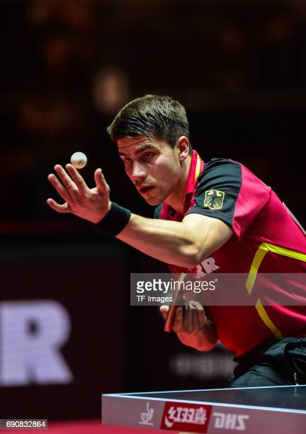 Patrick Franziska of Germany in action during the Table Tennis World Championship at Messe Duesseldorf on May 30, 2017 in Dusseldorf, Germany.