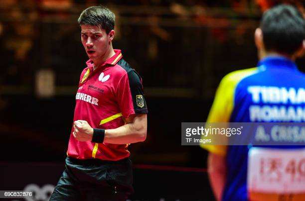 Patrick Franziska of Germany looks on during the Table Tennis World Championship at Messe Duesseldorf on May 30, 2017 in Dusseldorf, Germany.