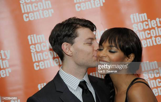 Patrick Fugit and Megalyn Echikunwoke attend the Damsels in Distress screening at The Film Society of Lincoln Center on April 3 2012 in New York City