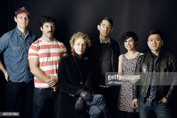 """Patrick Fugit Robert """"Meatball"""" Lorie Lisa Banes Kenny Riches Ashly Burch and Paul Chamberlain of 'The Strongest Man' pose for a portrait at the..."""