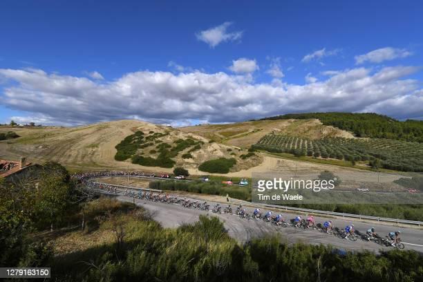 Patrick Gamper of Austria and Team Bora - Hansgrohe / Cesare Benedetti of Italy and Team Bora - Hansgrohe / Alvaro Jose Hodeg Chagui of Colombia and...