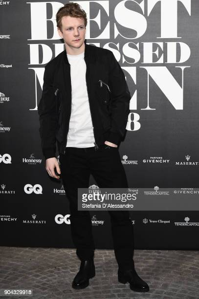 Patrick Gibson attends GQ Best Dressed Man 2018 during Milan Men's Fashion Week Fall/Winter 2018/19 on January 12 2018 in Milan Italy