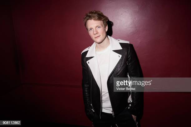 Patrick Gibson attends the Balmain Homme Menswear Fall/Winter 20182019 aftershow as part of Paris Fashion Week on January 20 2018 in Paris France