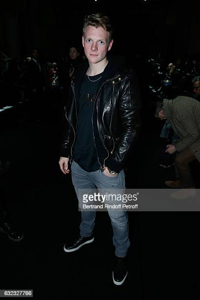 Patrick Gibson attends the Balmain Menswear Fall/Winter 20172018 show as part of Paris Fashion Week on January 21 2017 in Paris France