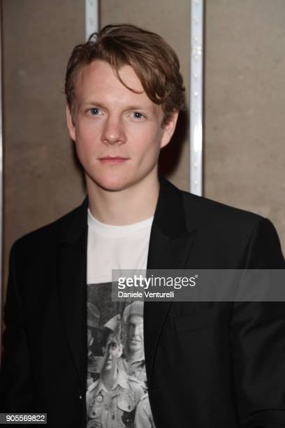 Patrick Gibson attends the Dsquared2 show during Milan Menswear Fashion Week Fall/Winter 2018/19 on January 14 2018 in Milan Italy