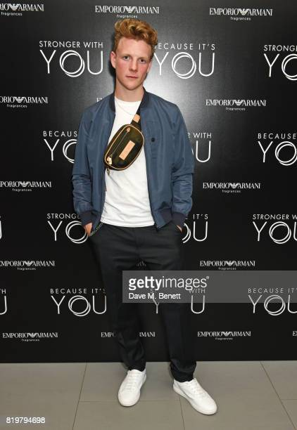 Patrick Gibson attends the Emporio Armani You Fragrance launch at Sea Containers on July 20 2017 in London England
