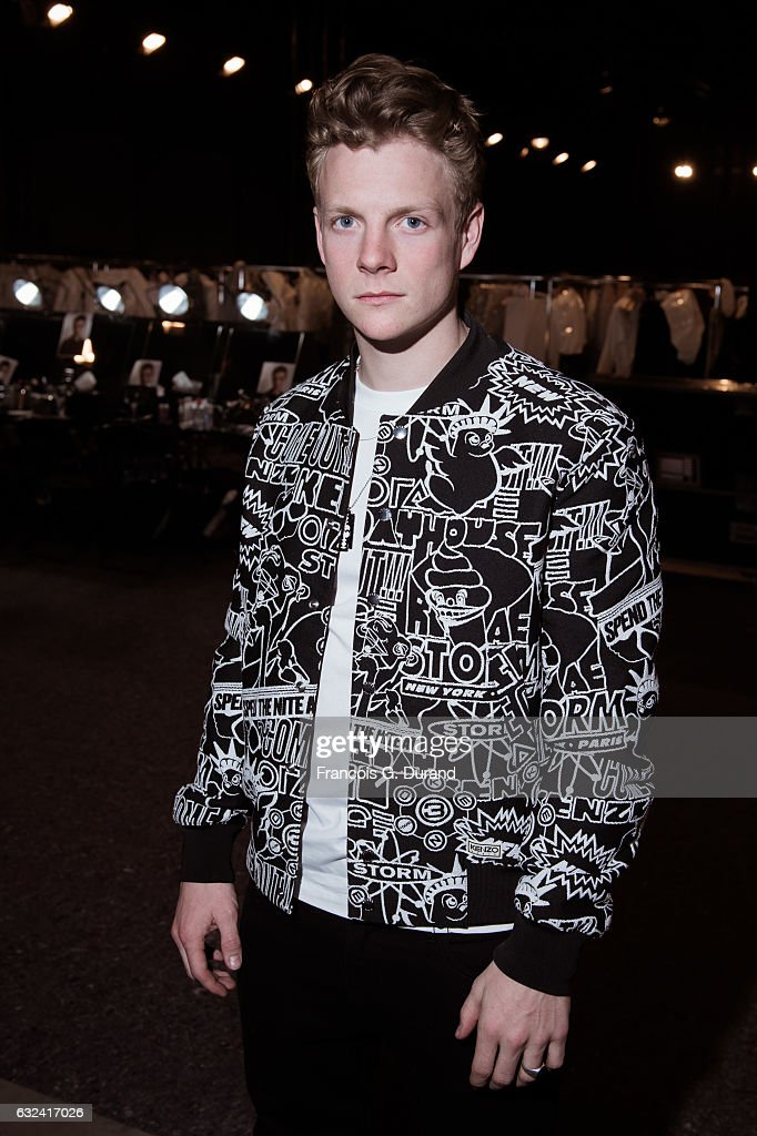 Patrick Gibson attends the Kenzo Menswear Fall/Winter 2017-2018 show as part of Paris Fashion Week on January 22, 2017 in Paris, France.