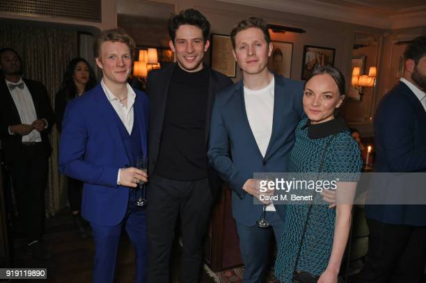 Patrick Gibson Josh O'Connor Scott Arthur and Levi Heaton attend Grey Goose Vodka and GQ Style's dinner in celebration of film and fashion at...