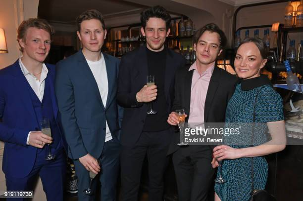 Patrick Gibson Scott Arthur Josh O'Connor Charlie Heaton and Levi Heaton attend Grey Goose Vodka and GQ Style's dinner in celebration of film and...