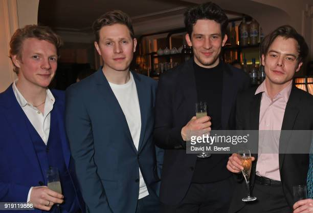 Patrick Gibson Scott Arthur Josh O'Connor Charlie Heaton attends Grey Goose Vodka and GQ Style's dinner in celebration of film and fashion at...