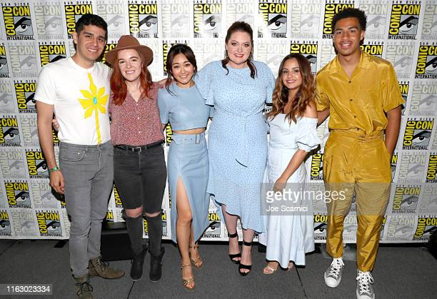 Patrick Gomez, Noelle Stevenson, Karen Fukuhara, Lauren Ash, Aimee Carrero and Marcus Scribner attend DreamWorks She-Ra and the Princesses of Power...