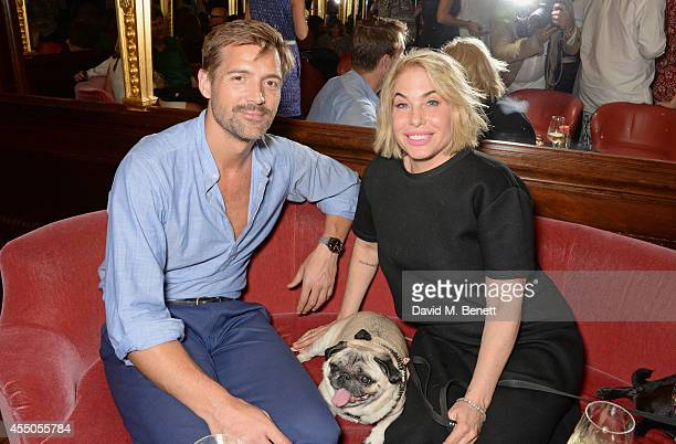 Patrick Grant and Brix SmithStart attend 'The Gentlewoman' issue launch party at the Oscar Wilde Bar at The Club at Hotel Cafe Royal on September 9...