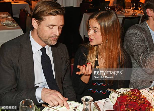 Patrick Grant and Lady Amelia Windsor attend the Alexander Gilkes and Annabel's Thanksgiving Dinner at Annabel's on November 23 2016 in London United...