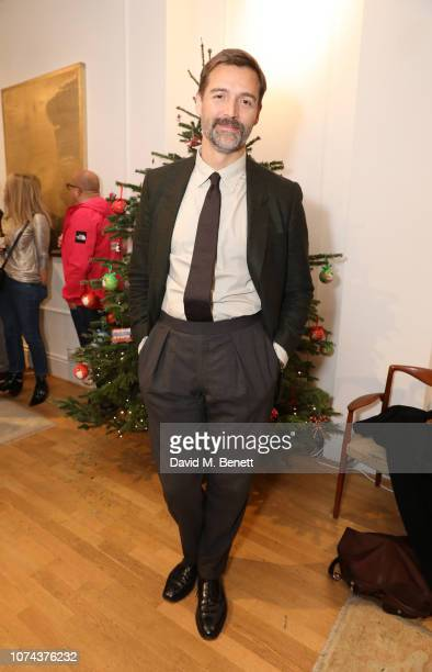Patrick Grant attends a private view of 'Art Design' hosted by Magdalena Gabriel and Patrick Grant at Norton Sons on December 18 2018 in London...