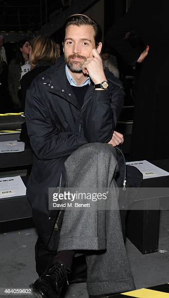 Patrick Grant attends the House of Holland show during London Fashion Week Fall/Winter 2015/16 at University of Westminster on February 21 2015 in...