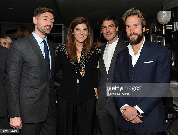 Patrick Grant Bex Manners Robert Konjic and Ben Fogle attends a drinks reception hosted by Ben Fogle and Bernie Shrosbree to celebrate Johnnie Walker...