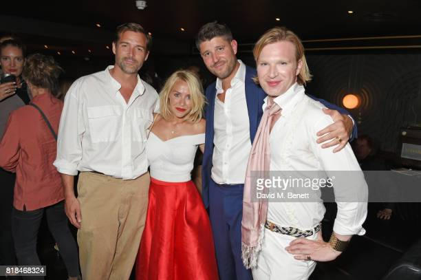 Patrick Grant Laura Hamilton Alex Goward and Henry Conway attend the launch of Quaglino's Q Legends Summer Series featuring special guests The...