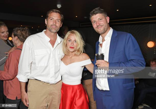 Patrick Grant Laura Hamilton and Alex Goward attend the launch of Quaglino's Q Legends Summer Series featuring special guests The Commitments on July...