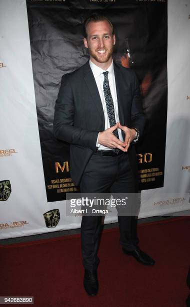 Patrick Greene arrives for the Los Angeles Premiere of 'Miles To Go' held at Writers Guild Theater on April 5 2018 in Beverly Hills California
