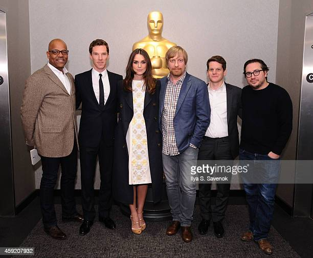 Patrick Harrison Benedict Cumberbatch Keira Knightley Morten Tyldum Graham Moore and Teddy Schwarzman attend the official Academy members screening...
